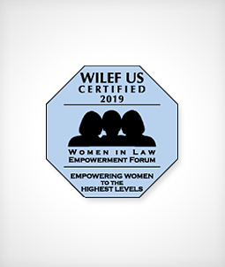 WILEF Certified 2019; Women In Law Empowerment Forum; Empowering Women to the Highest Levels