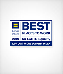100% Corporate Equality Index; 2109 Best Places to Work for LGBT Equality