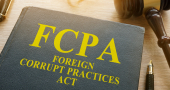 FCPA Foreign Corrupt Practices Act on a desk.