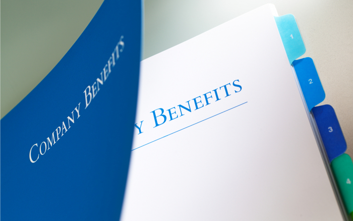 A corporation employee benefit package manual.